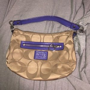 Brown and purple Coach Pocketbook